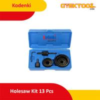 Kodenki Holesaw Kit Hole Saw Kit Mata Bor Kayu PVC Paralon Set 13pcs