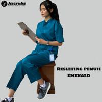 Baju Jaga Perawat Resleting Baju Dokter Seragam Bidan Seragam Oka