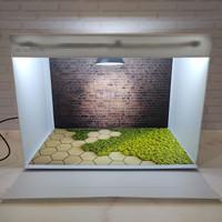 Box studio foto ukuran 45x32cm - paket dengan alas foto motif bata