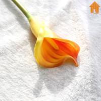 Bunga Simulasi - Tangkai Calla Lily Real Touch P67 - Orange