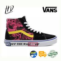 Sepatu Casual Vans SK8 HI Lady Vans Azalea Pink/True White Original