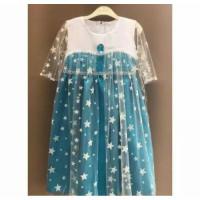 Gaun pesta Frozen Dress anak baju pesta anak kostum frozen baju prince