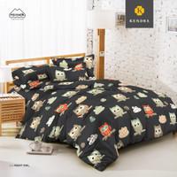 KENDRA Sprei Set Uk.180x200 King Size Bed[B2] - Night Owl