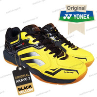 Sepatu Badminton Yonex Akayu 3 - Black Yellow