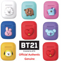 BTS BT21 Official Airpods Case Silicon Cover Skin New For Apple Airpod
