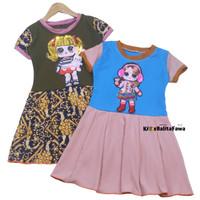 (BISA COD) Dress LED LOL uk 1-7 Tahun / IMPORT Baju Anak Perempuan