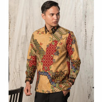 Baju Kemeja Batik pria motif Tulis Seperti ATBM SUTRA Pesta BR12