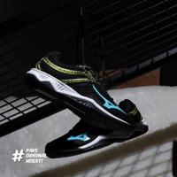 Sepatu Volly Mizuno Thunder Blade 2 - Black/Blue Atol/Flash