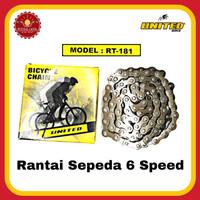 UNITED RT-181 Rantai Sepeda 6 Speed