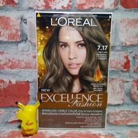 Loreal Paris Excellence Fashion Hair Color Cat Rambut 7.17 - Matt Ash