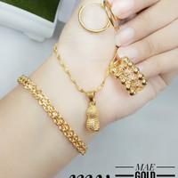 set perhiasan xuping lapis emas 24k motif kacang kwalitas terbaik 98Z