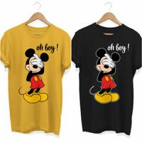 Kaos / T-Shirt Pria dan Wanita Mickey Mouse Oh boy