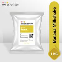 1Kg Bubuk Banana Powder Drink/ Banana Milk Shake/ Bubuk Minuman Pisang