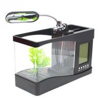 EECOO Aquarium Mini USB Desktop dengan Penyaring Air - OE97 - Hitam