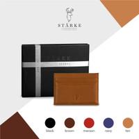 Starke Leather Nimble Pudu Card Holder Kulit Asli - Tan