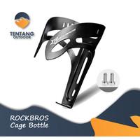 ROCKBROS Rak Botol Handle Bar Stang Plus Bracket Sepeda MTB Aksesoris - Hitam