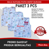 (PAKET 3 PCS) Baju Kutung Bayi SNI Newborn Laki Laki Perempuan 0-6 Bln