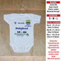 Baju Bola Bayi/Baby Romper/Baby Jumper Persib Away LIGA1 2018