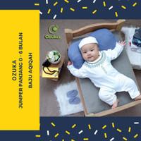 Jumper Panjang Baju Bayi Laki Laki Newborn - 6 Bulan Ozuka Aqiqah Peci