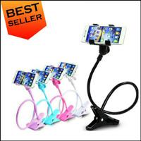 Lazypod Stand Ranjang Lantai Meja Dudukan Hp Jepit Phone Holder