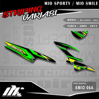 STRIPING VARIASI MIO SPORTY / SMILE - SMIO 06 - STIKER MOTIF RACING
