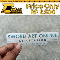 Sticker Stiker Sword Art Online Alicization War Of Underworld