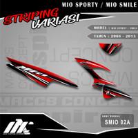 STRIPING VARIASI MIO SPORTY / SMILE - SMIO 02 - STIKER MOTIF RACING