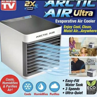 Ac mini portable kipas angin cooler usb arctic air 7 led