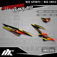STRIPING VARIASI MIO SPORTY / SMILE - SMIO 07 - STIKER MOTIF RACING