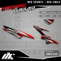 STRIPING VARIASI MIO SPORTY / SMILE - SMIO 04 - STIKER MOTIF RACING