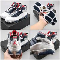 Sepatu Nike air jordan 6 rings Retro 13 black white only