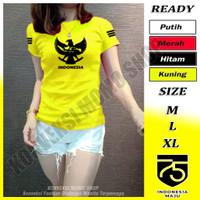 Baju Kaos Olahraga Wanita Fitnes Senam Gym Runing Aerobic Motif Garuda