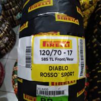 Ban luar uk 120/70-17 Pirelli Diablo Rosso Sport Tubeless race soft