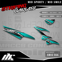 STRIPING VARIASI MIO SPORTY / SMILE - SMIO 08 - STIKER MOTIF RACING