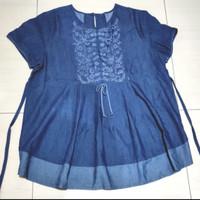 baju atasan hamil denim size L - XL