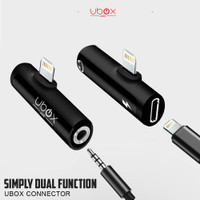 Ubox Audio Adapter connector lightning to Jack 3.5mm Aux Iphone