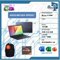 Laptop Asus M413DA VIPS551 Ryzen 5 3500 8GB 512ssd 14.0FHD IPS W10