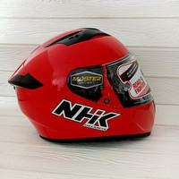 HELM NHK FULL FACE NHK GP PRIME SOLID RED FREE PINLOCK 70