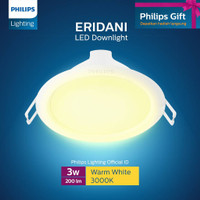 Philips Downlight ERIDANI 080 3W 30K WH Recessed LED Kuning