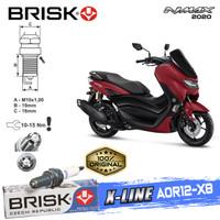 Busi Motor Brisk Premium Xline Tipe - AOR12-X8 Nmax 2020
