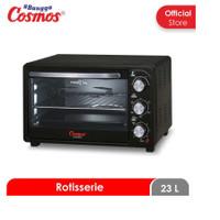 Cosmos CO-9923 RB BBQ Rotisserie Oven Listrik [23 L/ JKT] Black