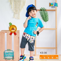 Baju anak laki-laki karakter kartun Goku Dragon Ball ( KOVKA Suit Cart