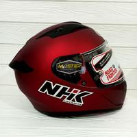 HELM NHK FULL FACE NHK GP PRIME SOLID ROYAL RED DOFF FREE PINLOCK 70