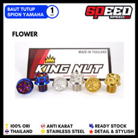 Baut Tutup Spion Nmax Aerox Probolt Thailand Gold Blue - Model Flower, Gold