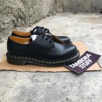 Sepatu Dr Martens 1461 Black Smooth 3 Eye Original Sepatu Docmart