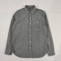 Kemeja Pria Muji Ash Grey Chambray Shirt Original Casual Kantor Kerja