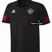 Polo shirt Pria Kaos kerah Manchester united adidas