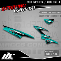 STRIPING VARIASI MIO SPORTY / SMILE - SMIO 10 - STIKER MOTIF RACING