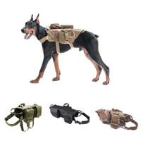 Vest Harness Rompi Dog Anjing Besar Training Military Army + 3 Tas