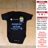 Baju Bola Bayi/Baby Romper/Baby Jumper Persib 3rd LIGA1 2018